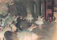 Prova di balletto in scena